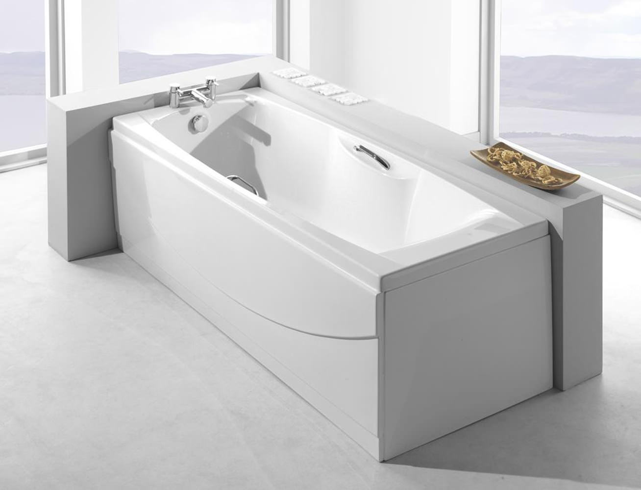 Carron Imperial 5mm Acrylic Bath With Grips 1800 x 750mm