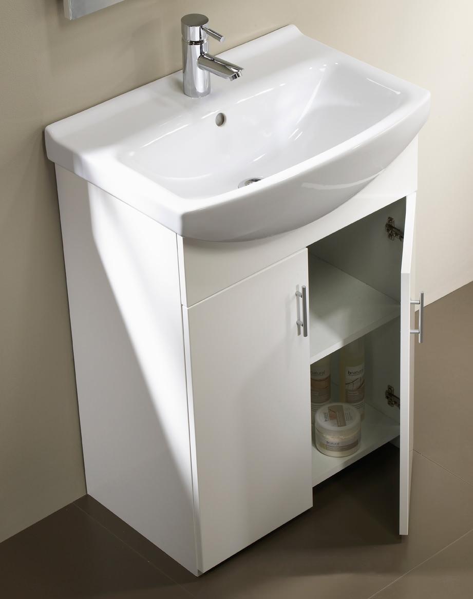 Tavistock Opal 500mm White Freestanding Unit With Basin