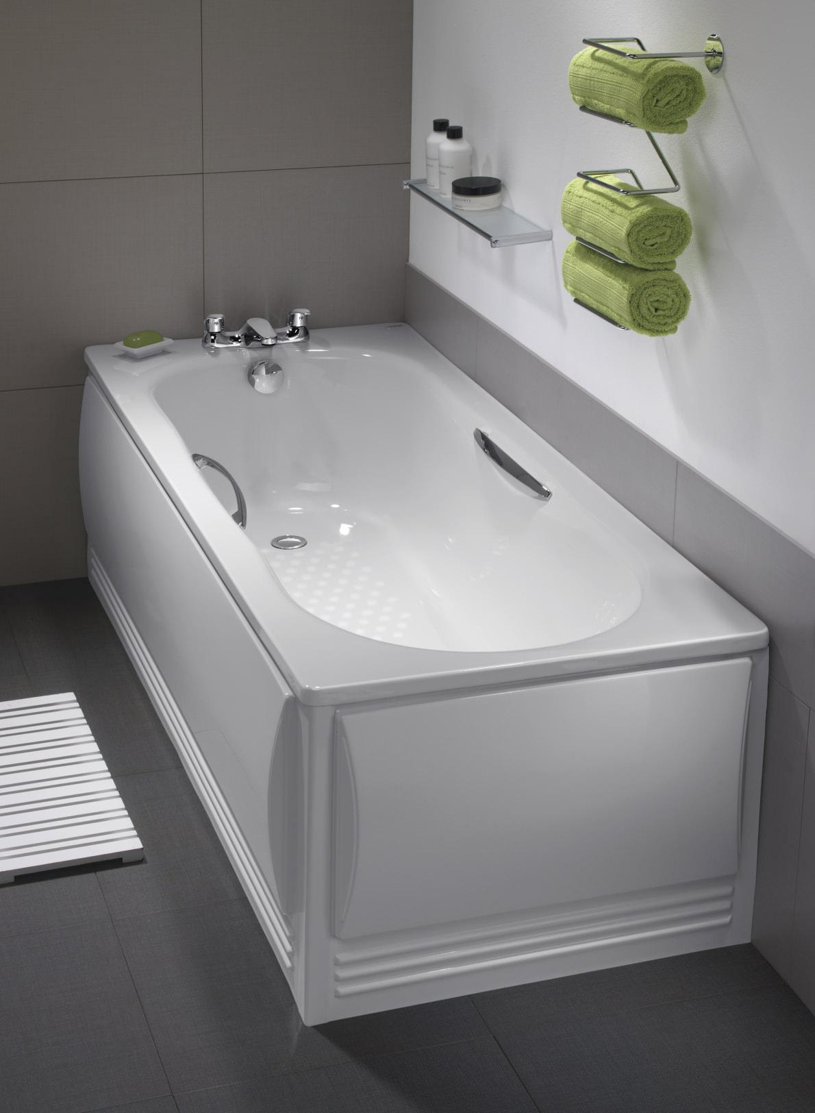 Twyford Celtic Plain Steel Bath 1600 x 700mm With Legs And Grips