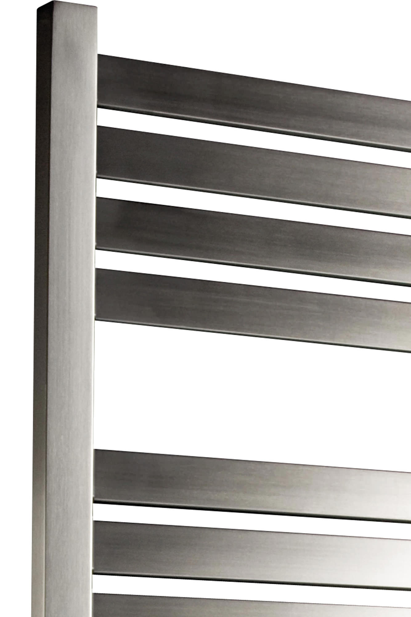 tile flooring for bathrooms dq heating alisi brushed steel heated towel rail 500 x 1200mm 20846