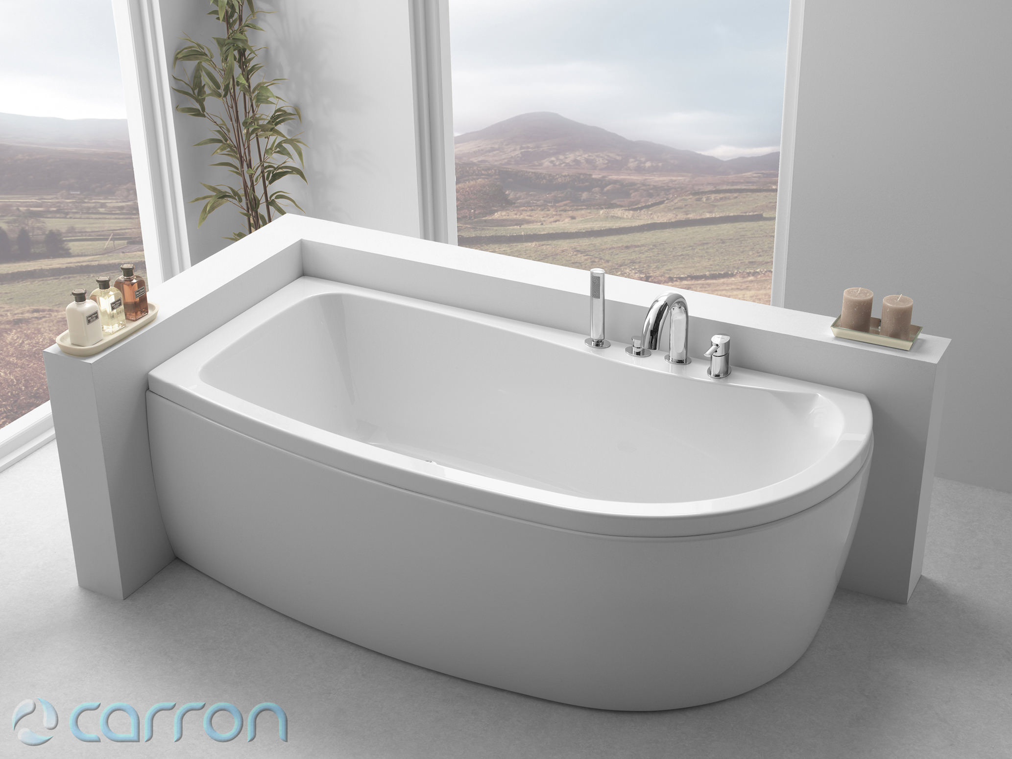 carron agenda double ended shower bath 1700 x 700 820mm right hand