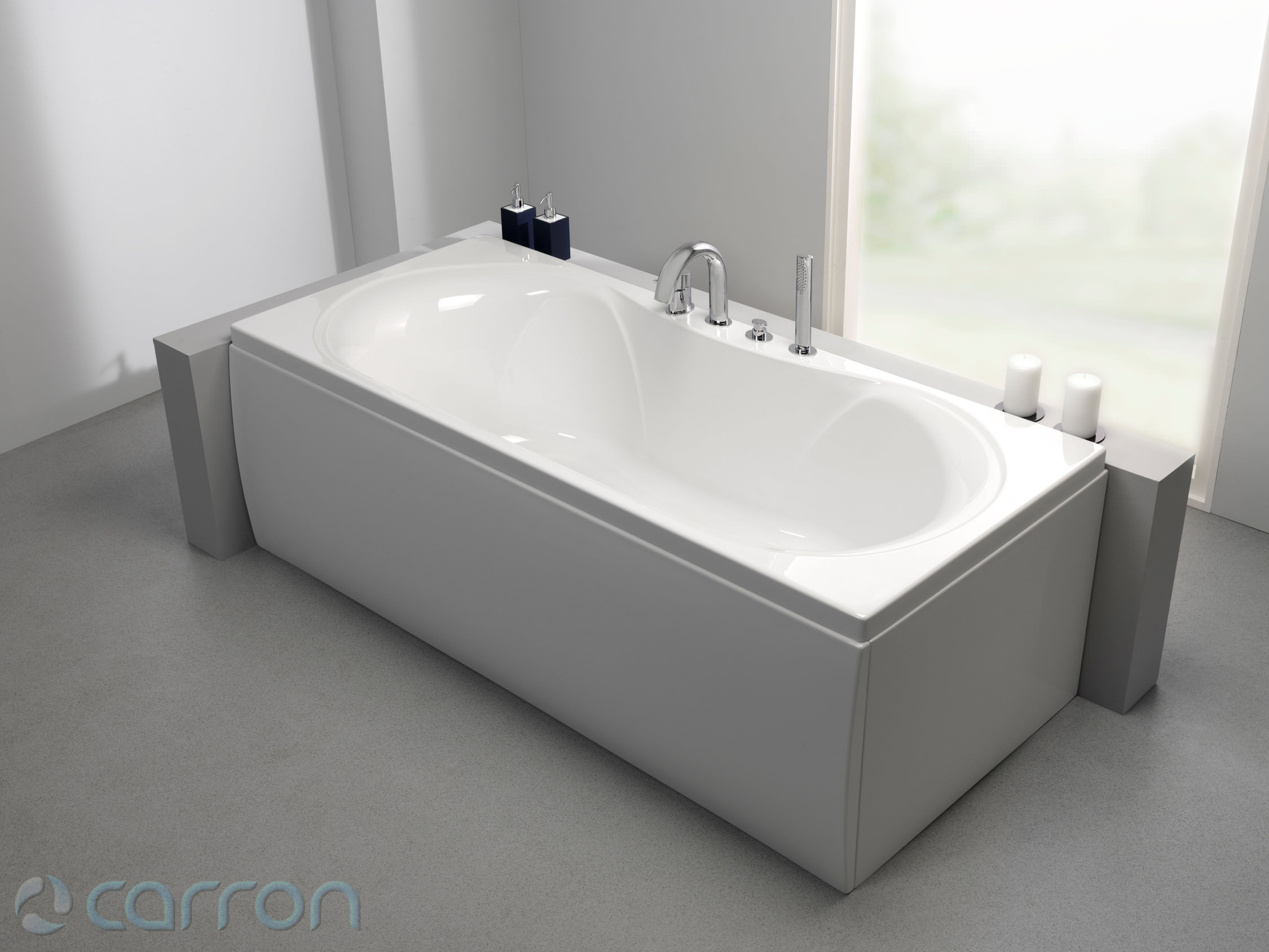 Carron arc duo 5mm acrylic double ended bath 1800 x 800mm for Bath 1800