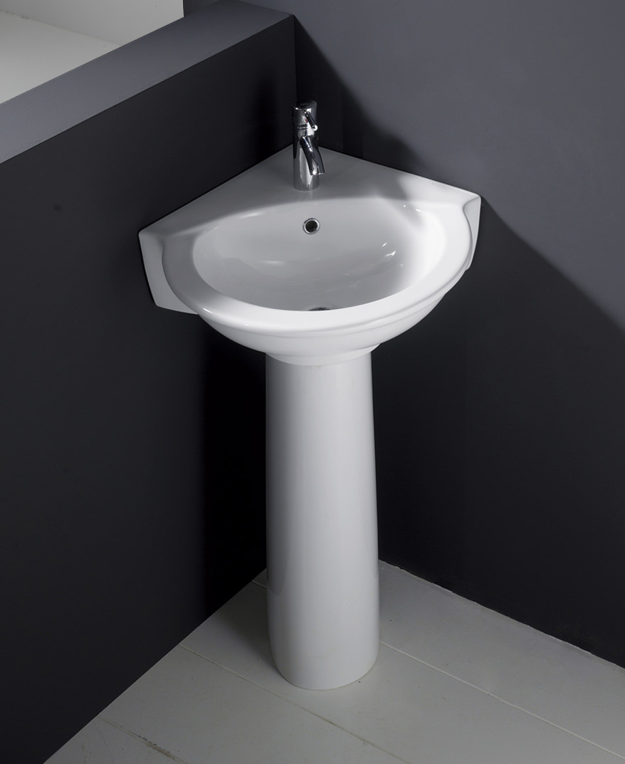 Rak Evolution 595mm Corner Basin And Full Pedestal