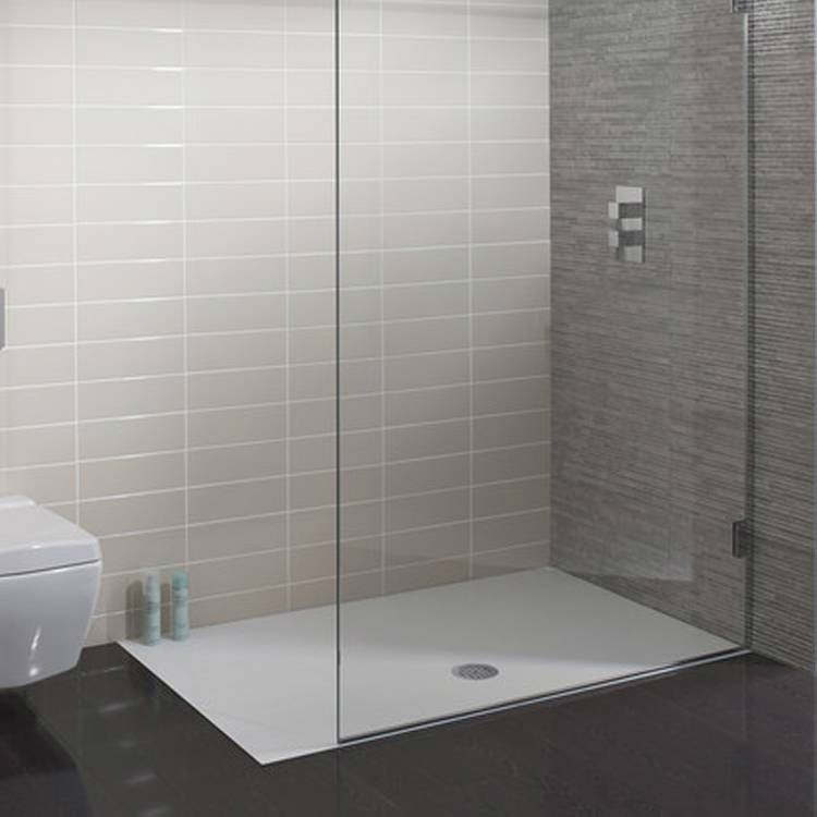 simpsons 1500 x 800mm white textured slate effect shower tray. Black Bedroom Furniture Sets. Home Design Ideas