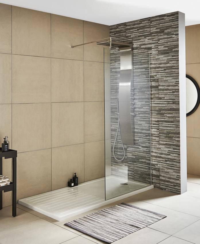 Lauren Wetroom Walk-In 800 x 1850mm Shower Panel With Support Bar