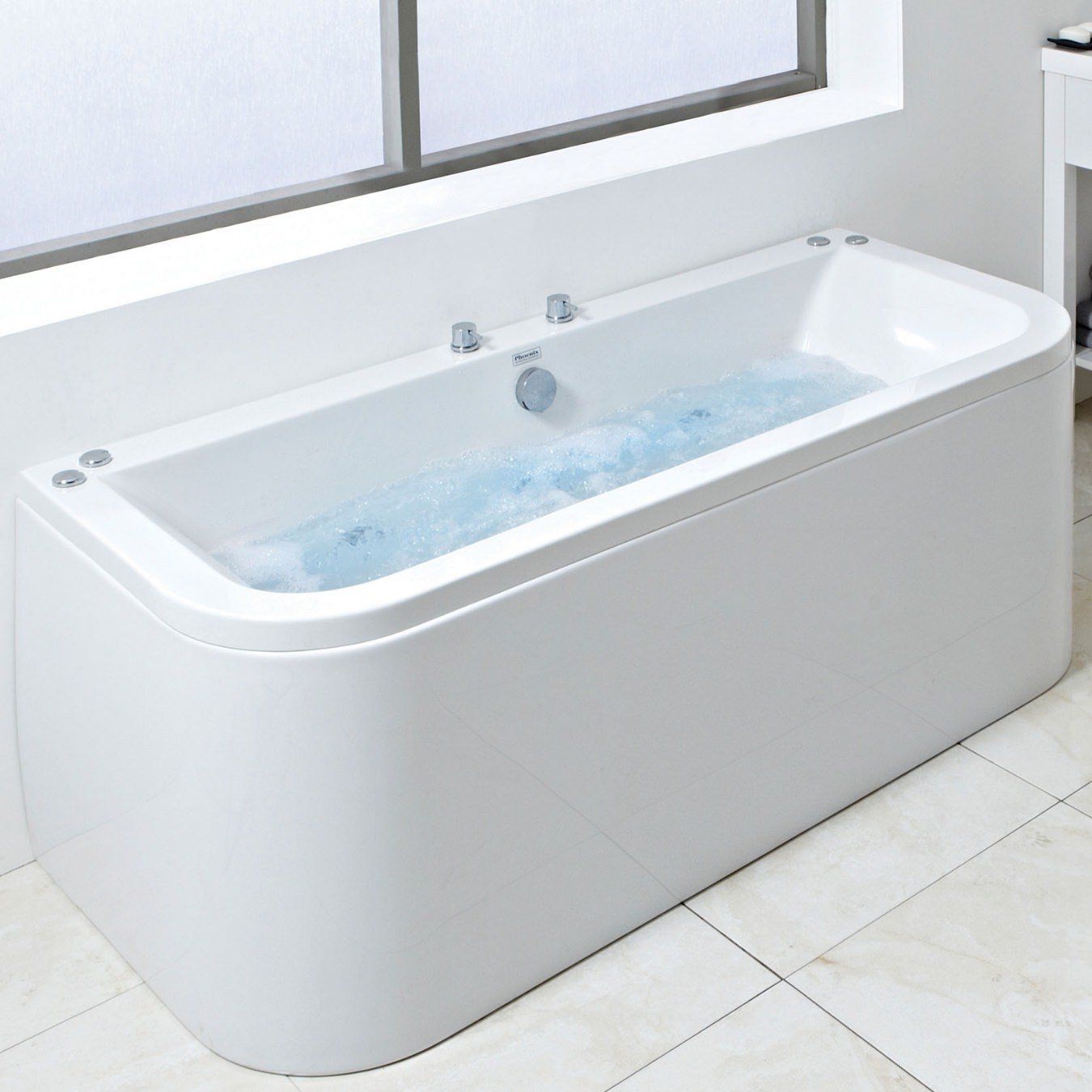 Phoenix sima 1800 x 850mm double ended amanzonite bath for Bath 1800