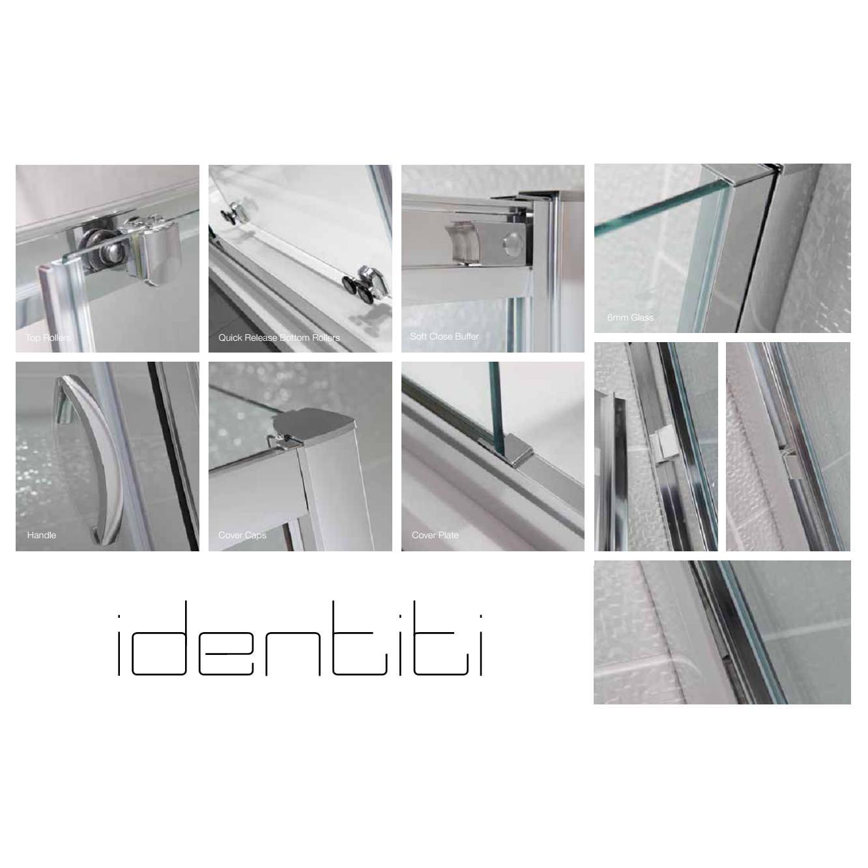 April identiti2 1000mm sliding shower door for 1000mm door