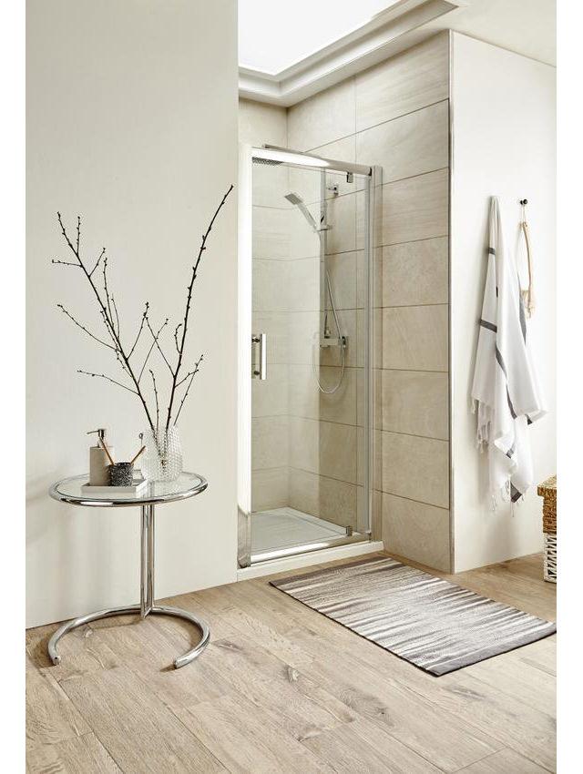 Lauren pacific 700 x 1850mm pivot shower door for 1800mm high shower door