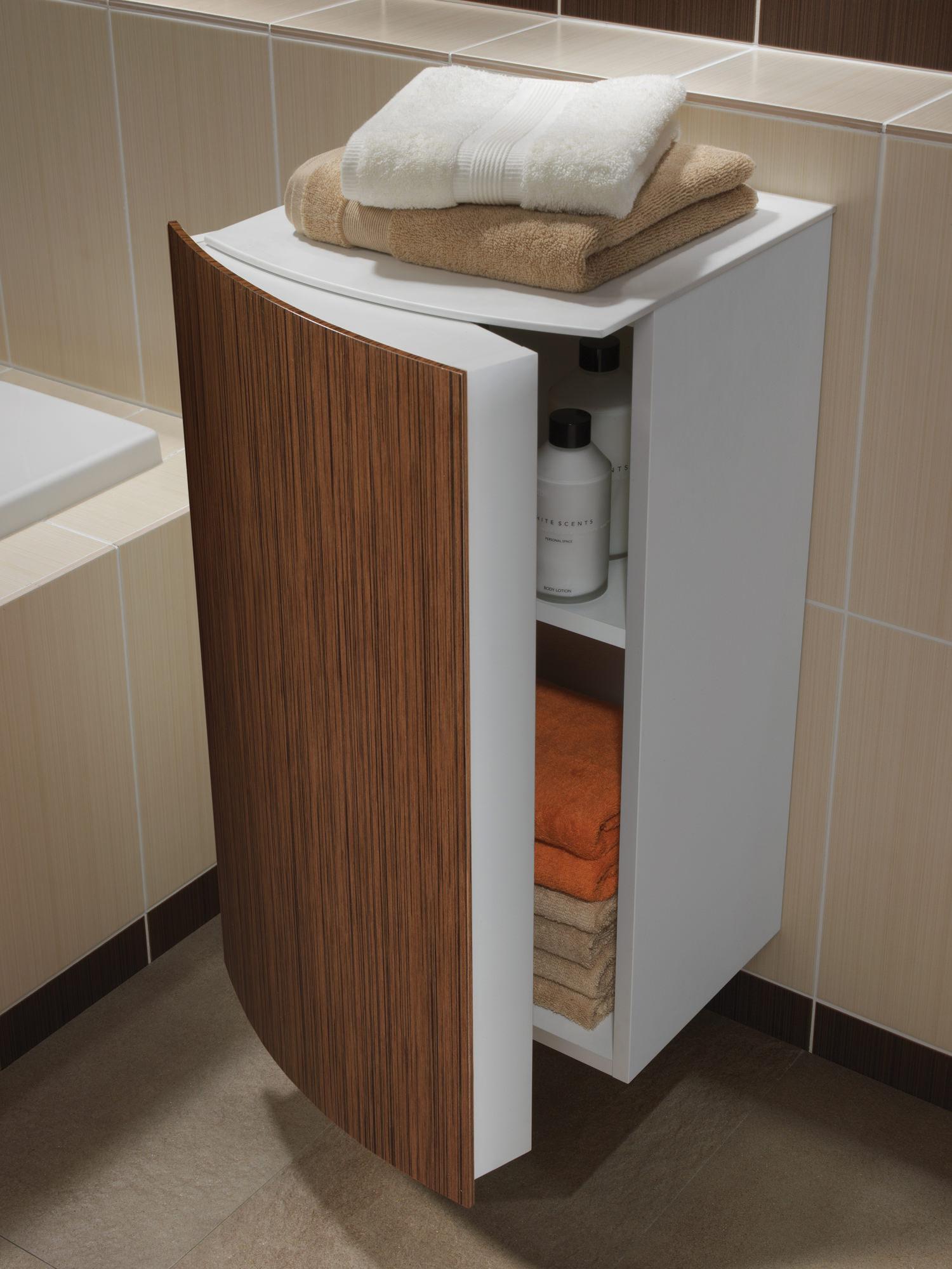 Twyford Moda 382 X 370 X 690mm Teak Side Cabinet Ex Display