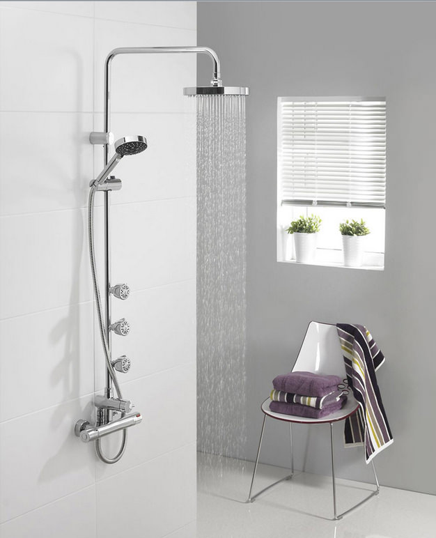 Triton Nene Bar Mixer Shower With Diverter And Body Jets