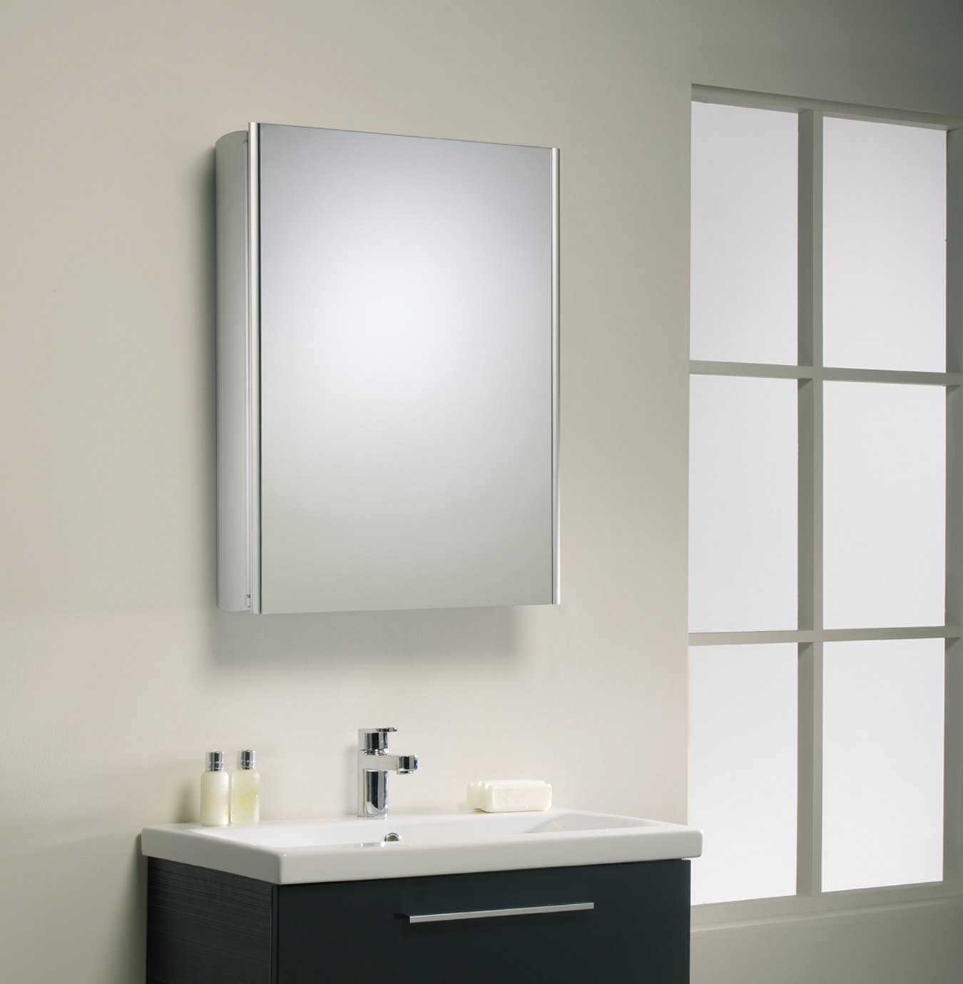 Roper Rhodes Limit Slimline Single Door Mirror Cabinet