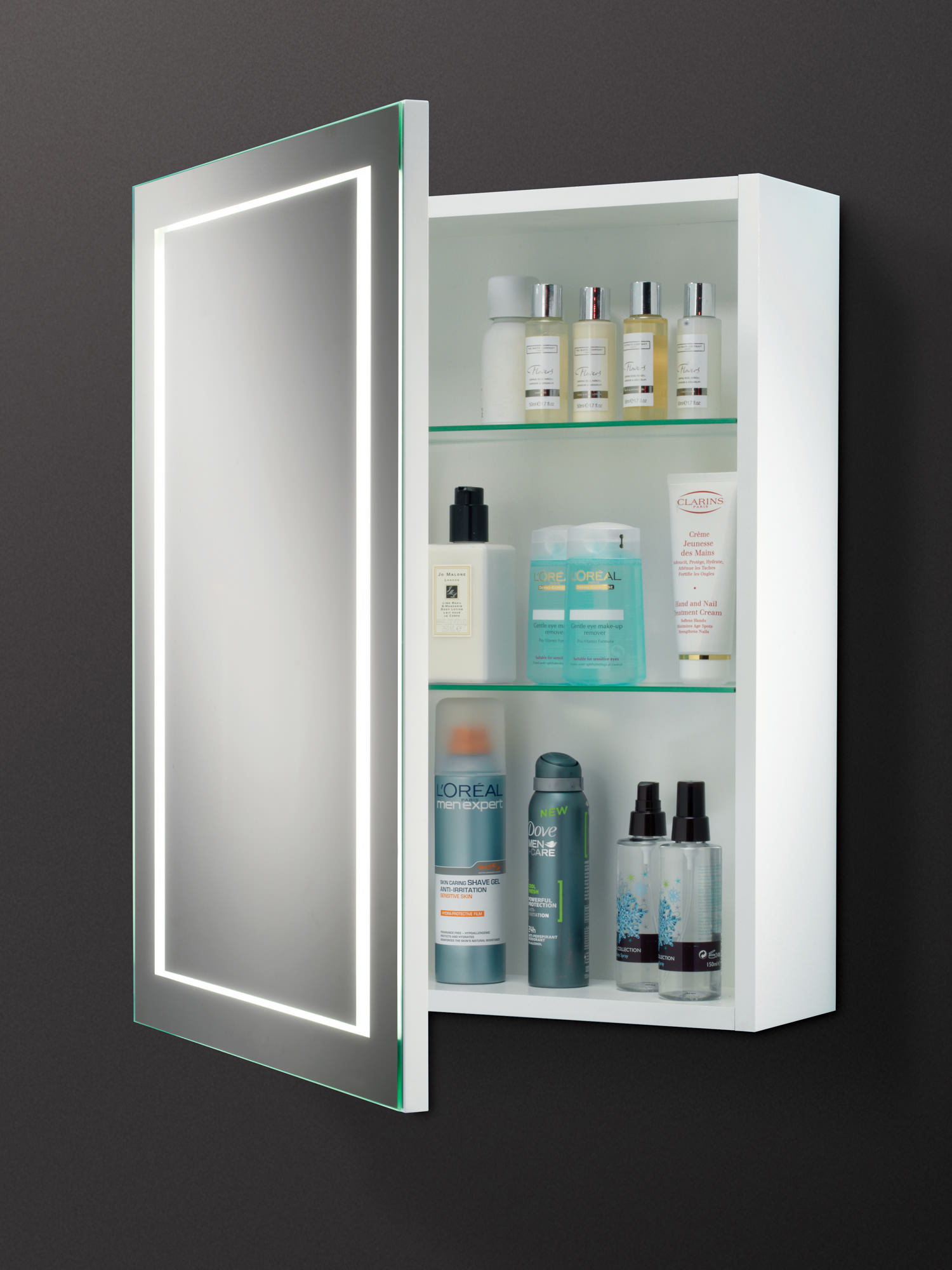 led bathroom cabinet hib single door led illuminated bathroom cabinet 13425