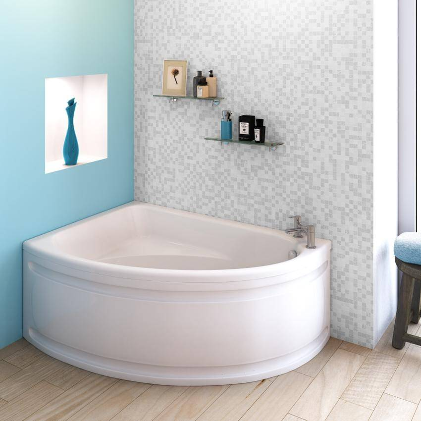 Beo Melody Off Set Corner Shower Bath And Panel Left Hand 1450 X 950mm