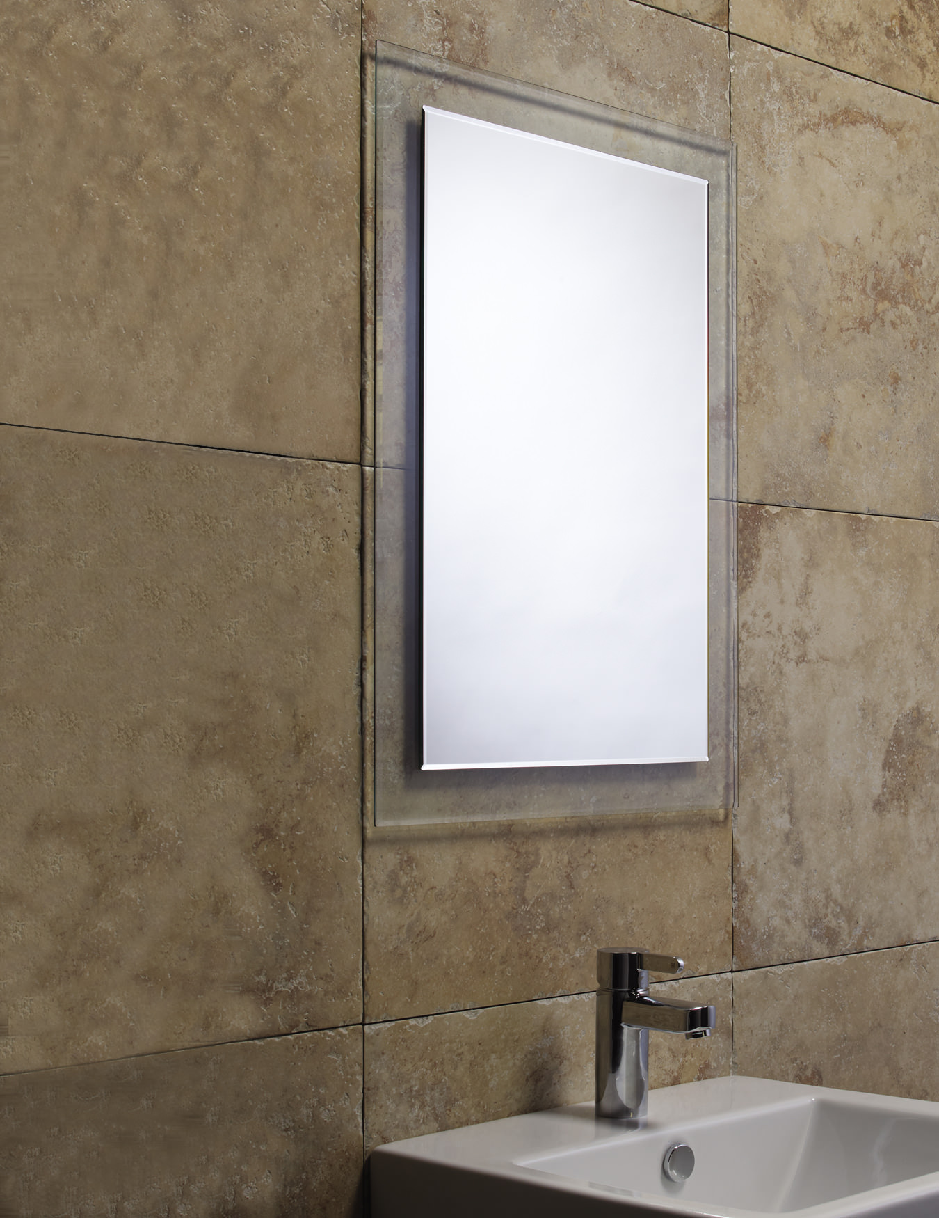 Bevelled Bathroom Mirror Roper Rhodes Level Bevelled Mirror With Clear Glass Frame