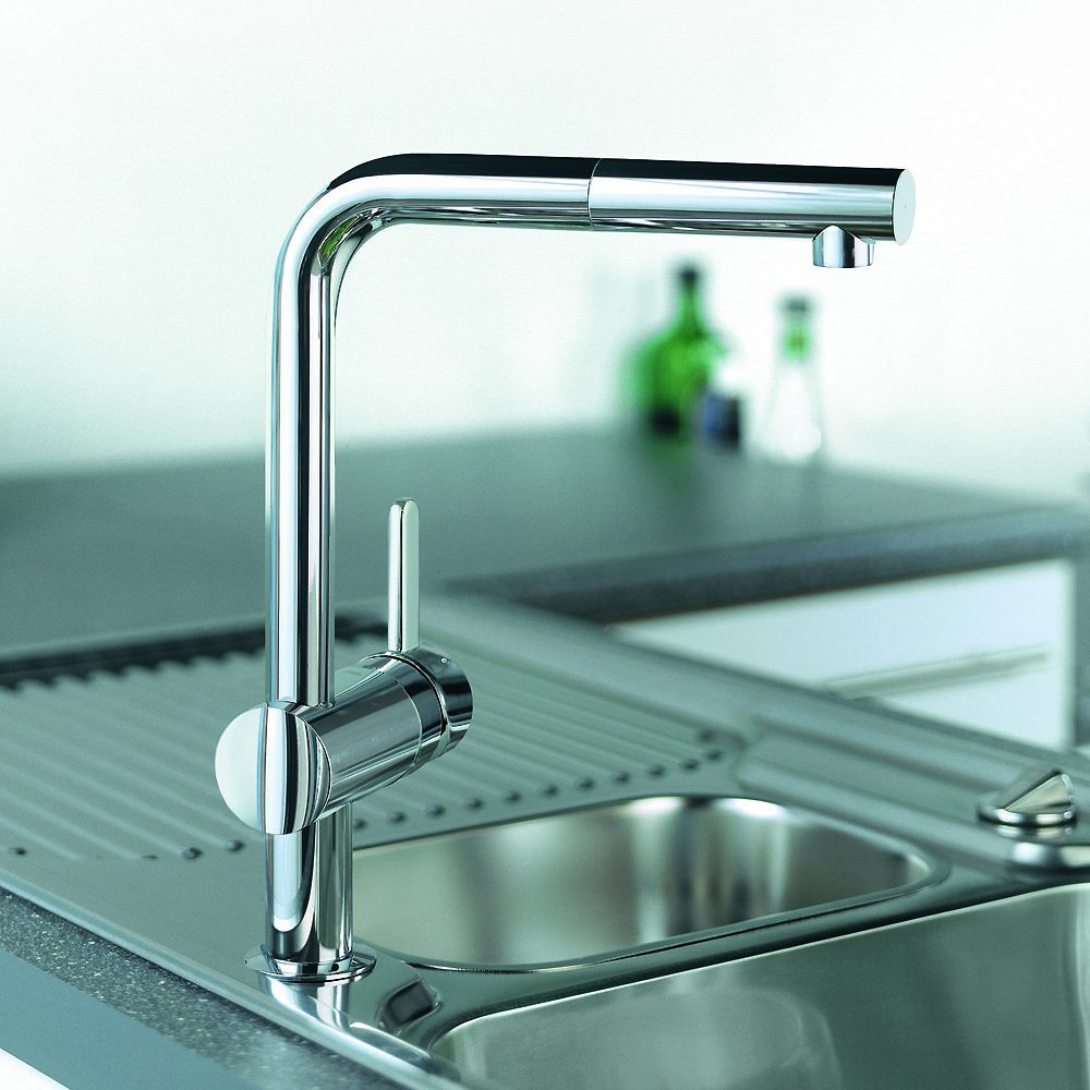 grohe minta sink tap pull out spout extractable mousseur chrome. Black Bedroom Furniture Sets. Home Design Ideas