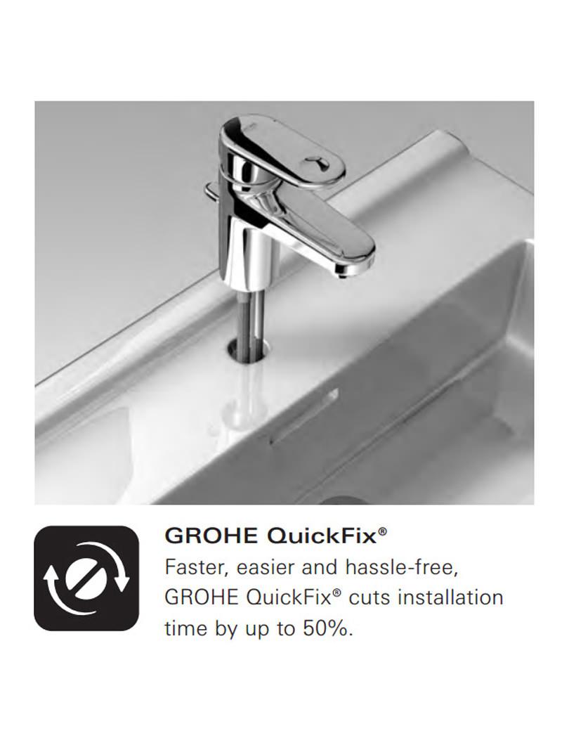 grohe rainshower cosmopolitan 130mm shower set chrome. Black Bedroom Furniture Sets. Home Design Ideas