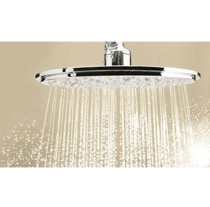 grohe rainshower cosmopolitan 210mm single spray shower head. Black Bedroom Furniture Sets. Home Design Ideas
