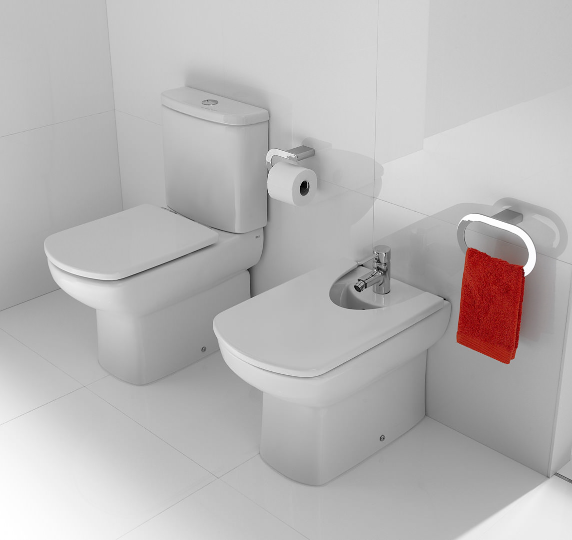 roca senso moulded back to wall close coupled wc pan with. Black Bedroom Furniture Sets. Home Design Ideas