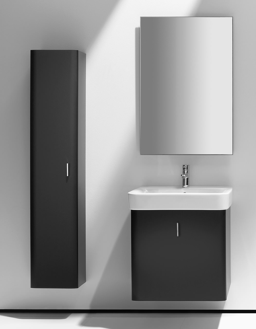 Roca Bathroom Accessories Roca Senso Square Matt Black Finish Column Unit 1501mm