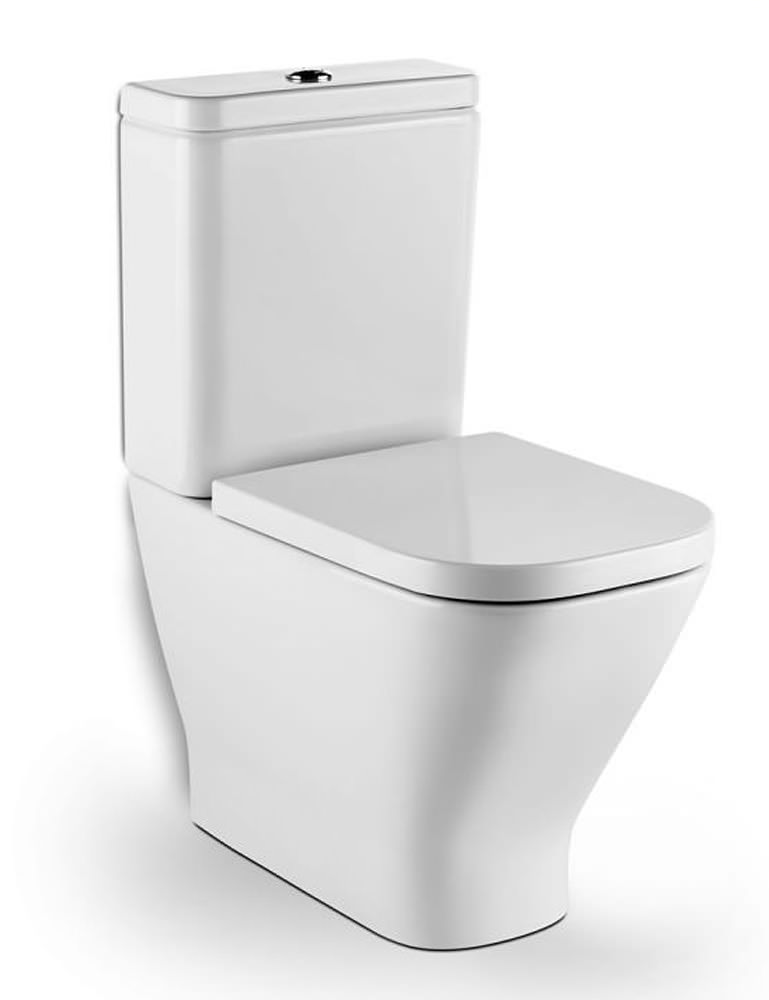 Roca The Gap Moulded Back To Wall Rimless Close Coupled Wc
