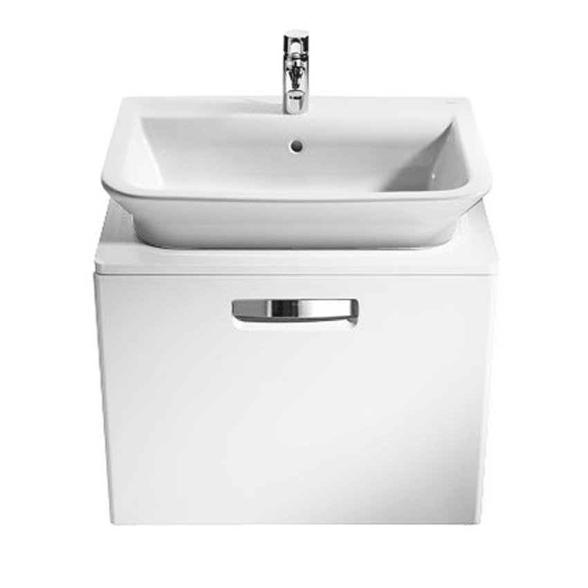 roca bathroom sinks roca the gap matt white base unit with drawer for 500mm basin 14235 | AD AQ 22262 Roca The Gap Matt White Base Unit With Drawer For 500mm Basin6030