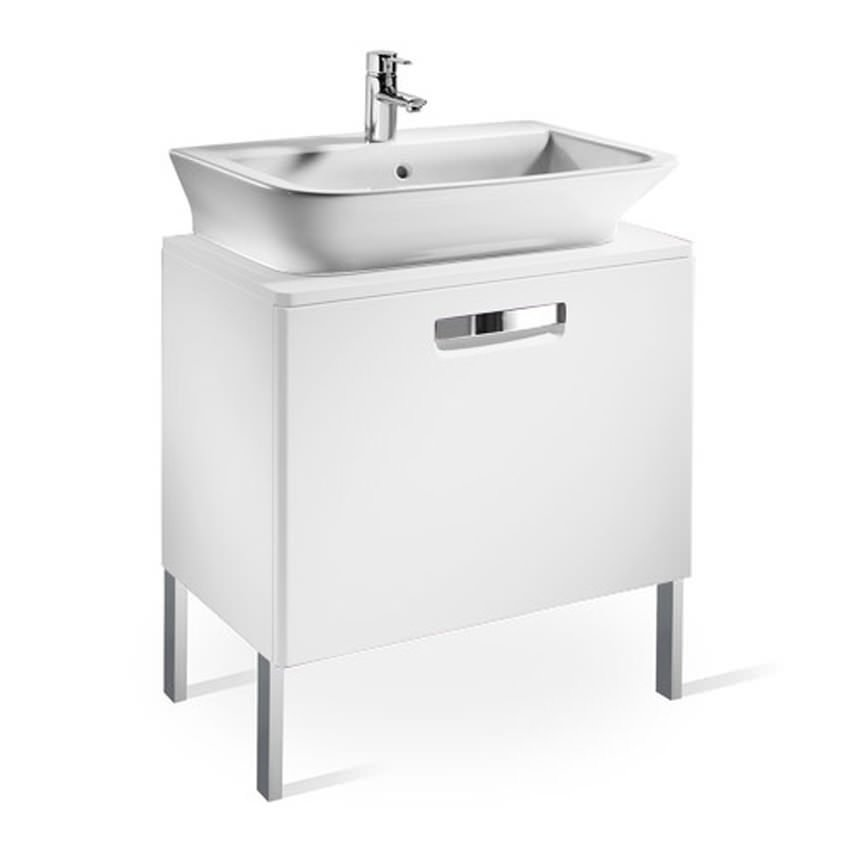 roca bathroom cabinets roca the gap matt white base unit with drawer for 500mm basin 25596