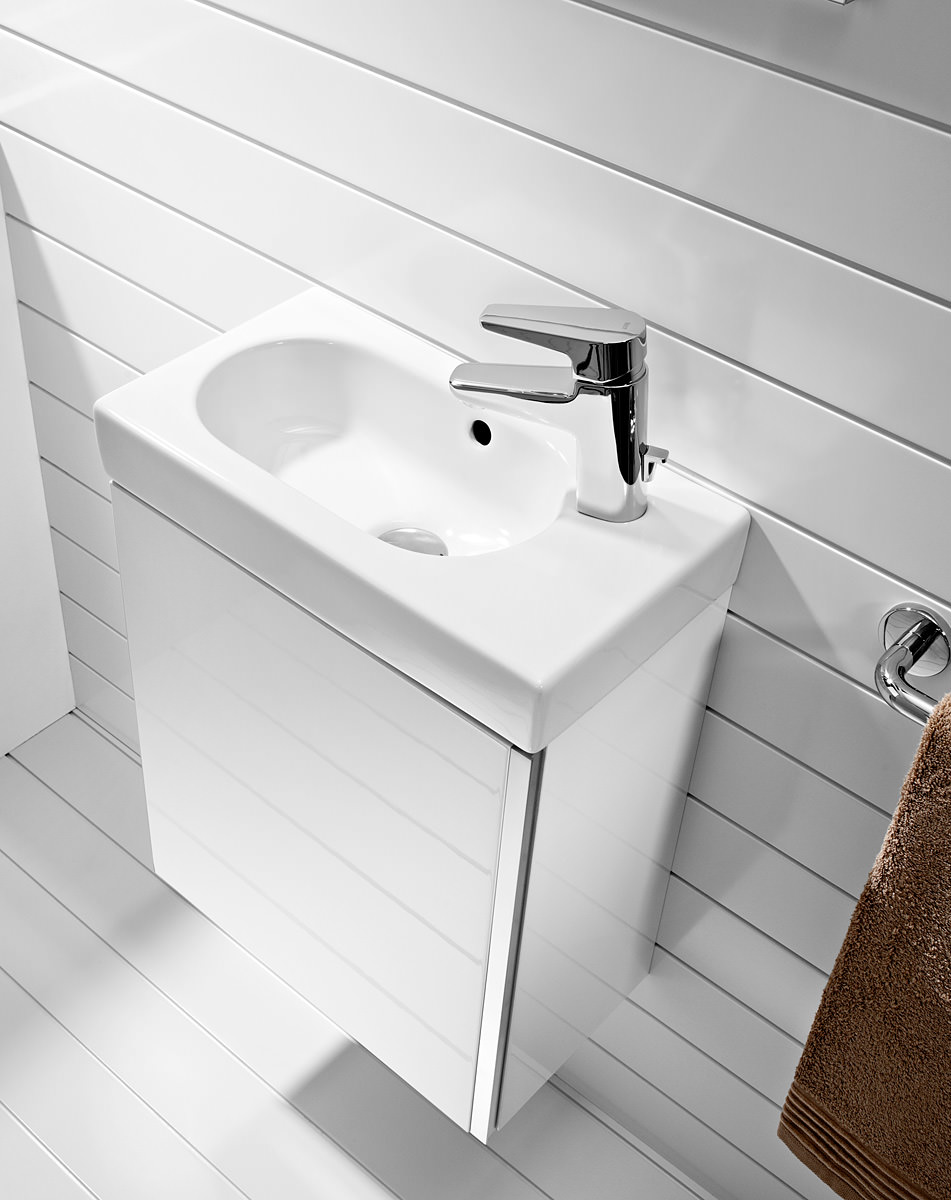 Roca Mini Basin And Base Unit Gloss White