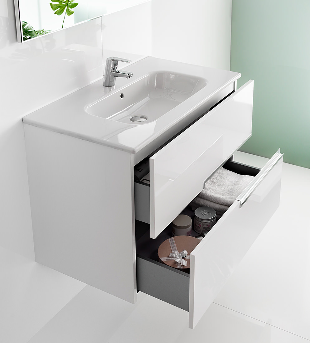 roca bathroom sinks roca n unik basin and unit with 2 drawers 800mm 14235