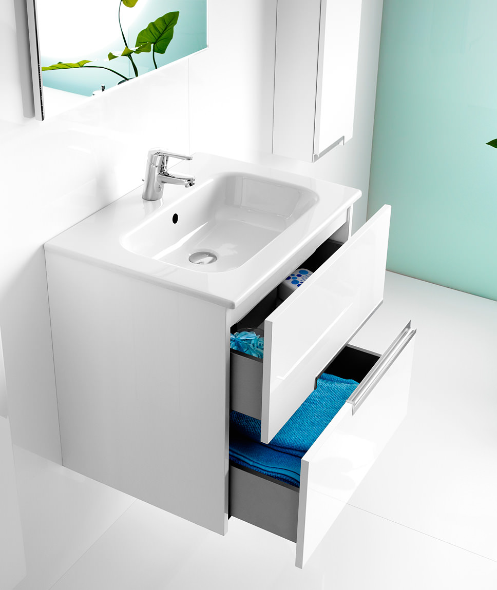 Roca victoria n unik basin and unit with 2 drawers 700mm for Mueble unik victoria