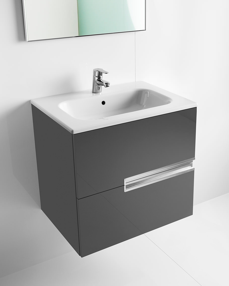 Roca Bathroom Accessories Roca Victoria N Unik Basin And Unit With 2 Drawers 600mm Grey