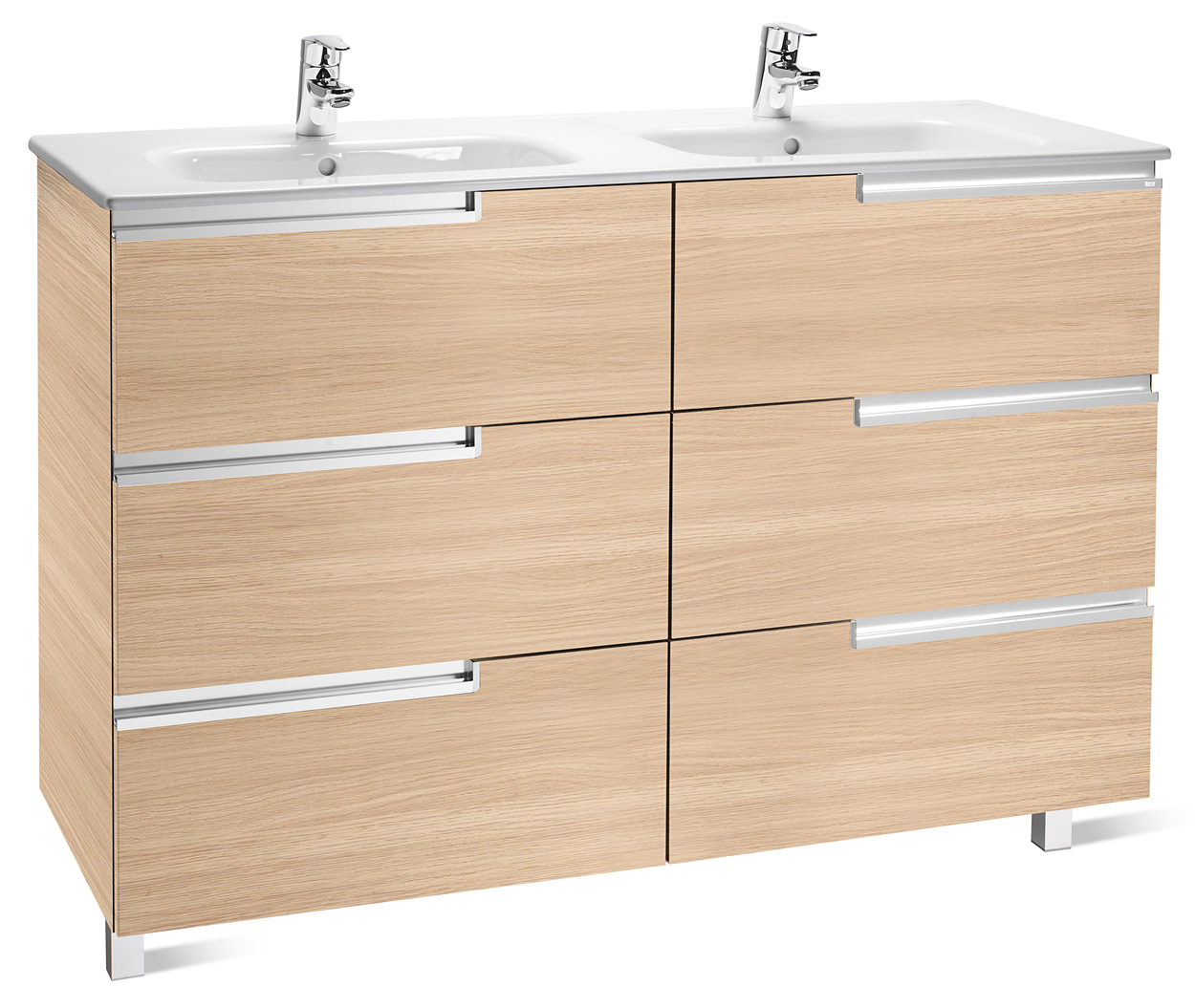 Roca victoria n unik basin and unit with 6 drawers 1200mm for Mueble unik victoria