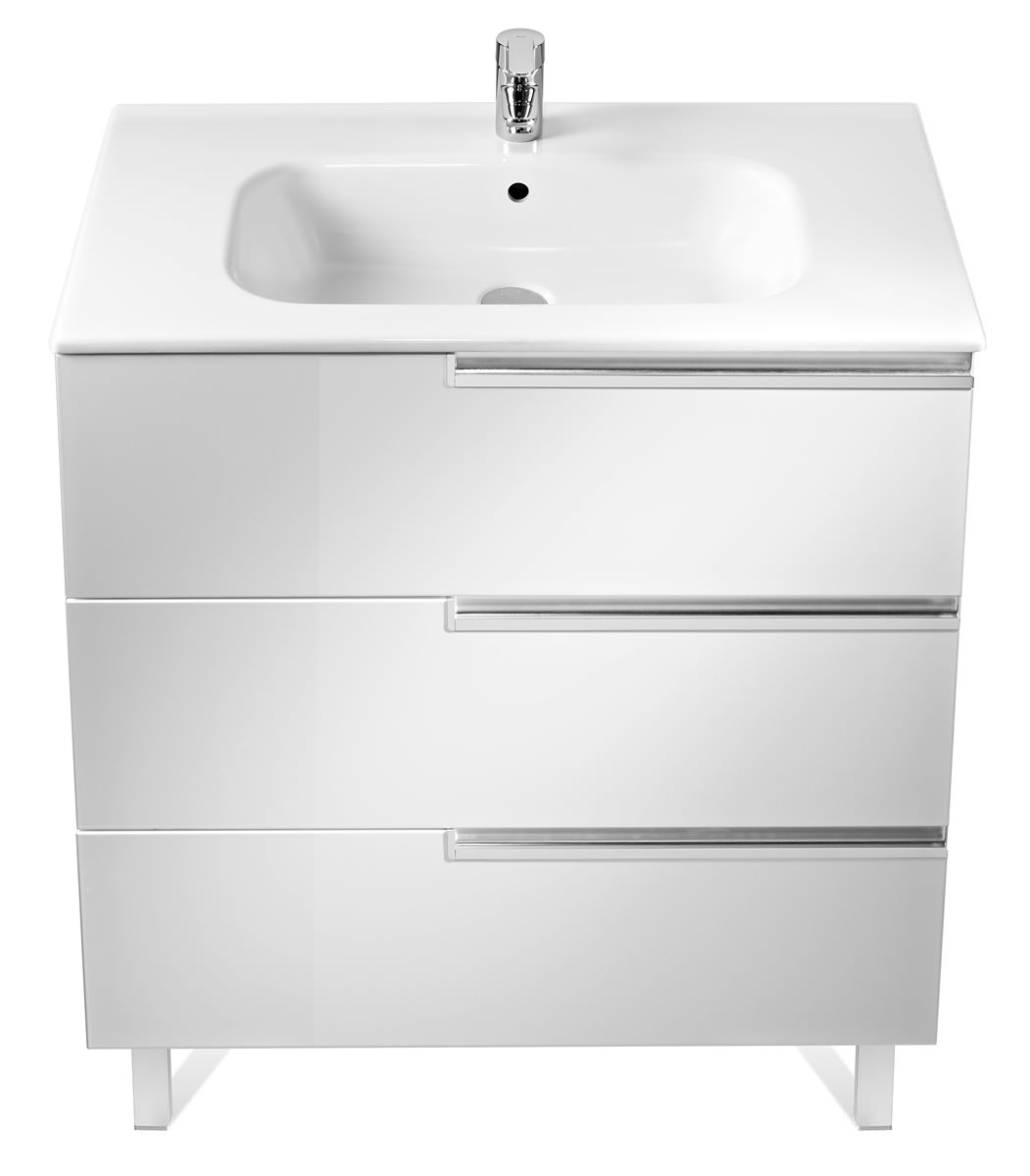 Roca Victoria N Unik Basin And Unit With 3 Drawers 800mm White