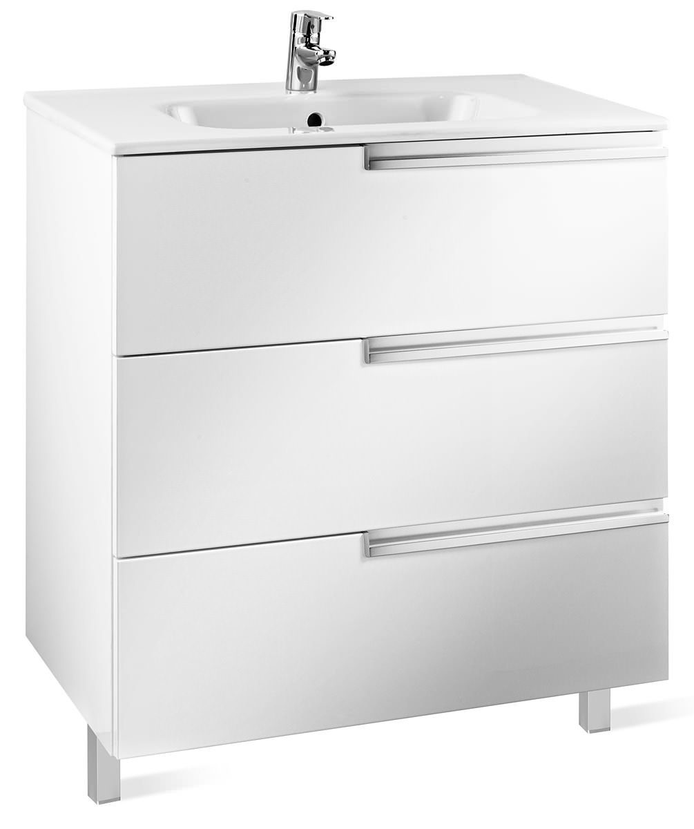 Roca victoria n unik basin and unit with 3 drawers 600mm for Mueble unik victoria