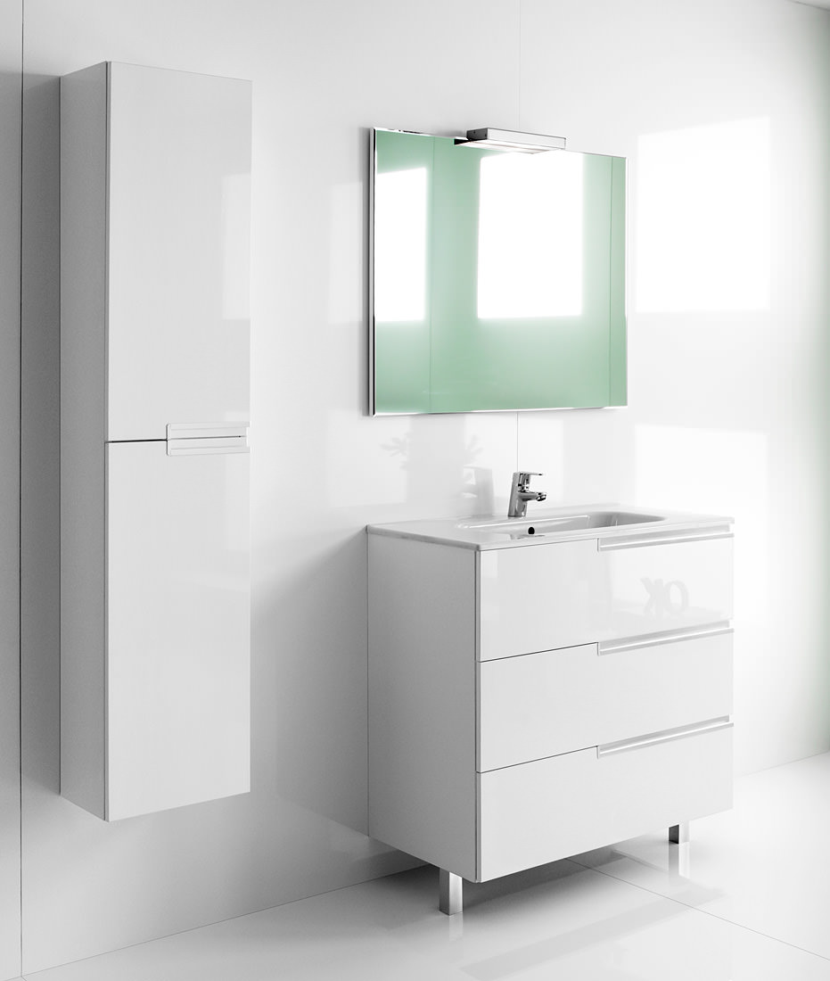 roca bathroom cabinets roca n unik basin and unit with 3 drawers 600mm 25596