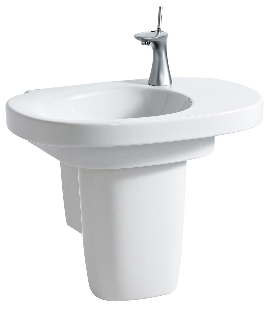 laufen mimo asymmetrical washbasin 650 x 440mm with no tap. Black Bedroom Furniture Sets. Home Design Ideas