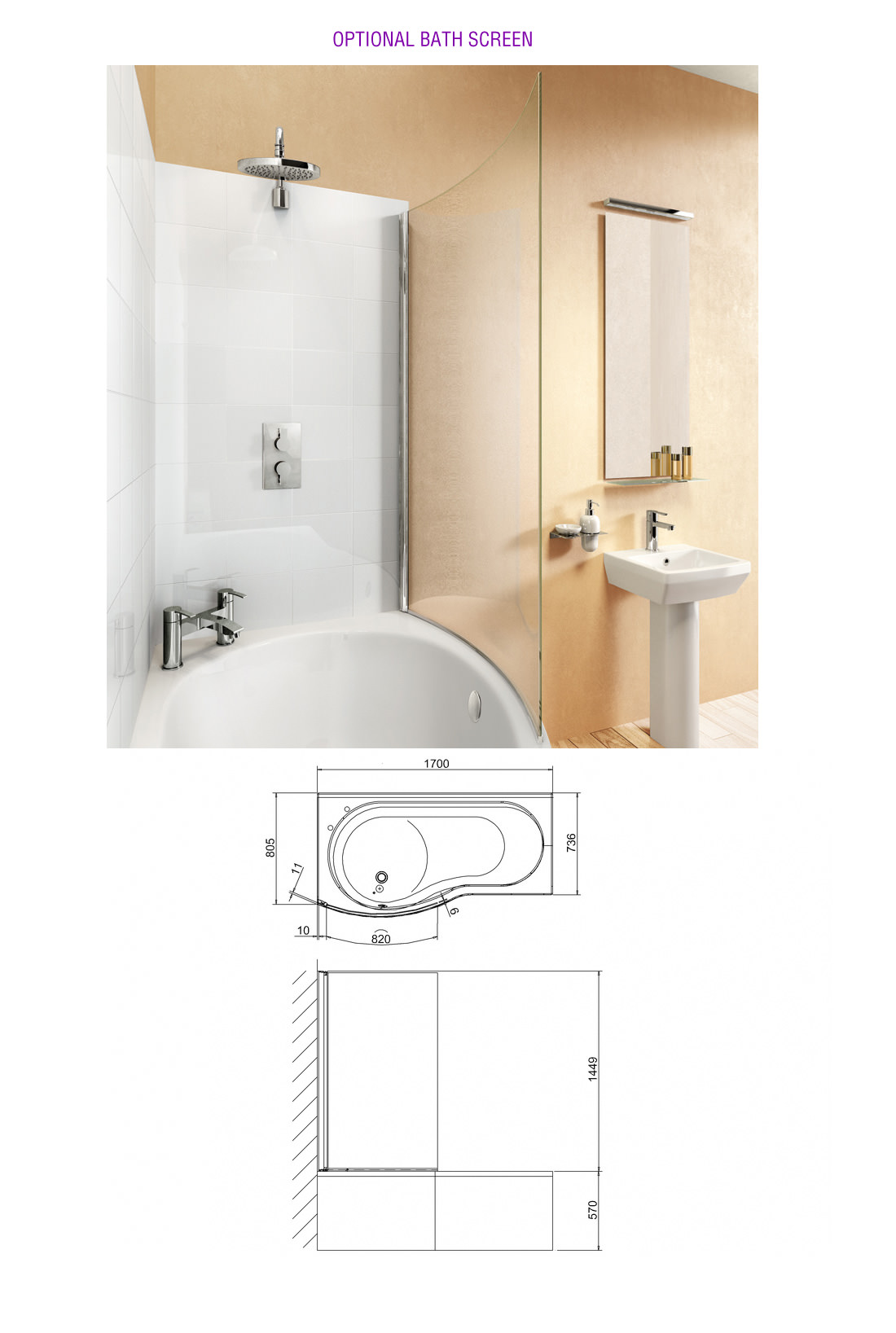 cleargreen ecoround 1500mm x 900mm right handed shower bath best 25 1500mm bath ideas on pinterest small bathroom