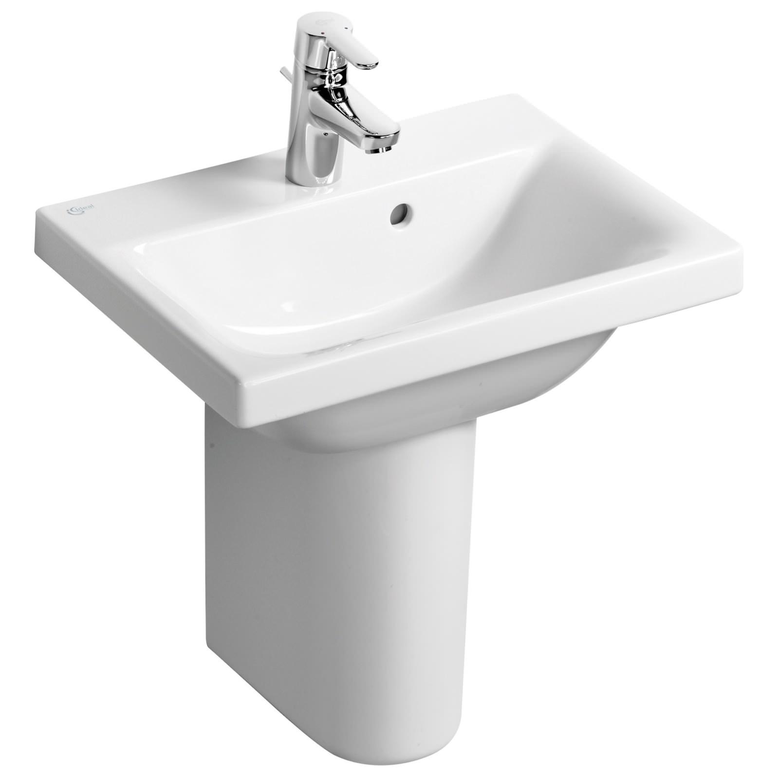 ideal standard concept space 55 x 38cm basin with 1 taphole. Black Bedroom Furniture Sets. Home Design Ideas