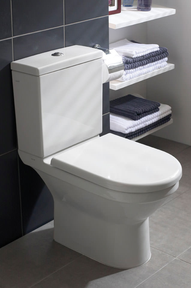 vitra s50 comfort height close coupled toilet with seat. Black Bedroom Furniture Sets. Home Design Ideas