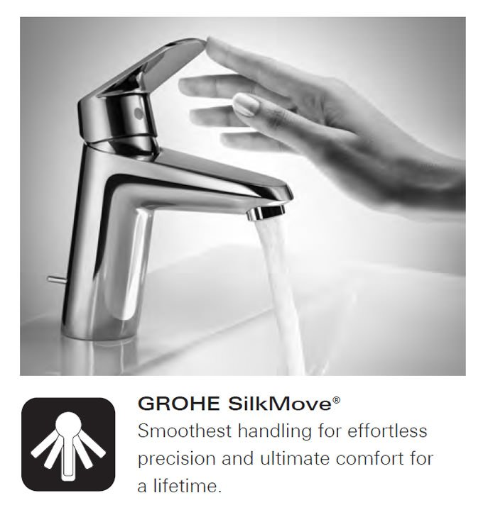 Grohe BauEdge Chrome Basin Mixer Tap