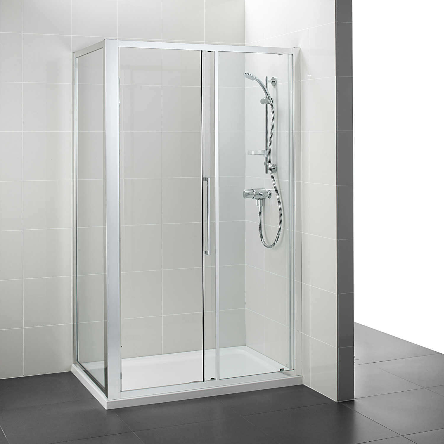 Ideal standard kubo 1000mm slider shower door for 1000mm shower door