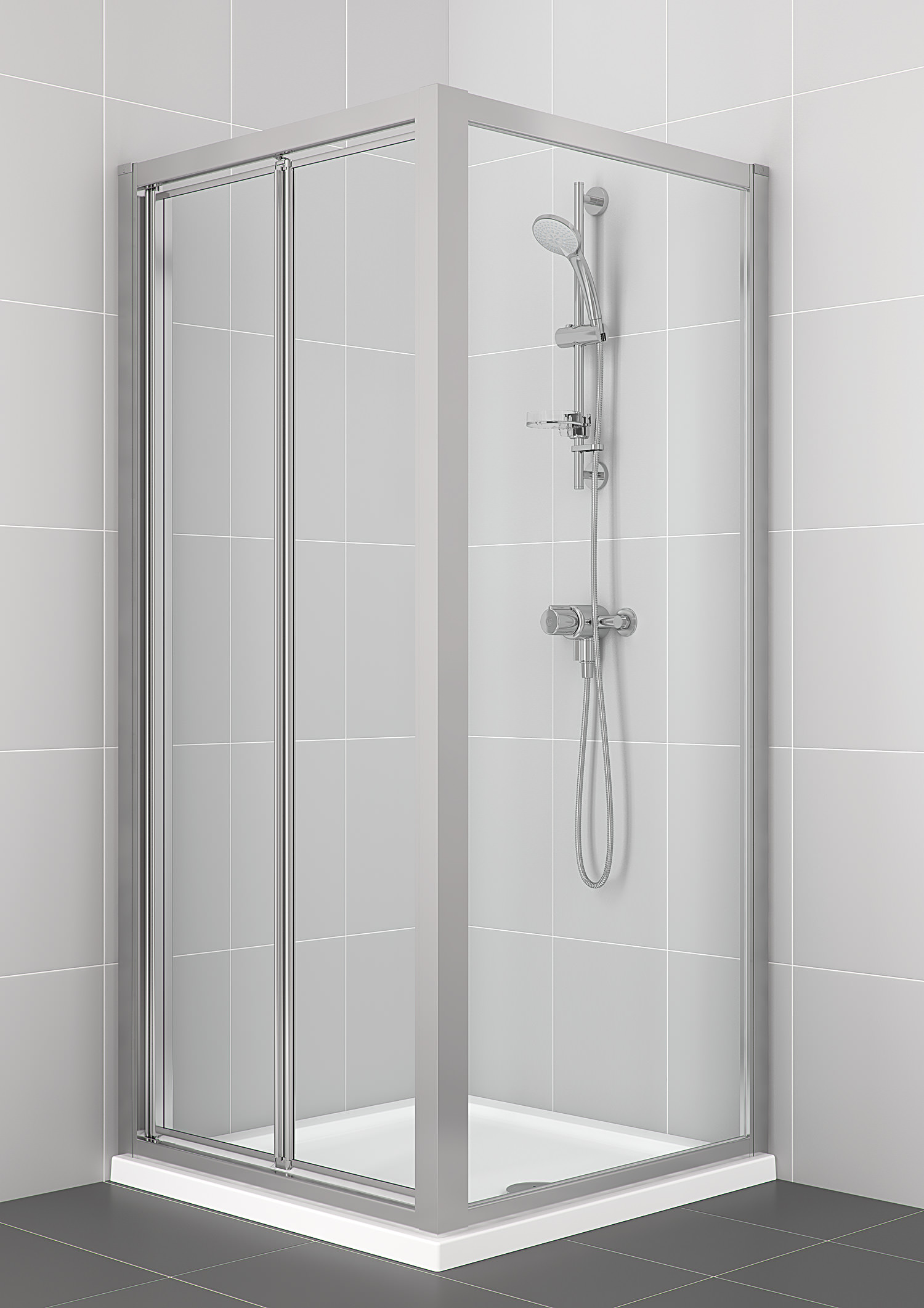 Bifold Bathroom Door : Ideal standard new connect mm bifold shower door