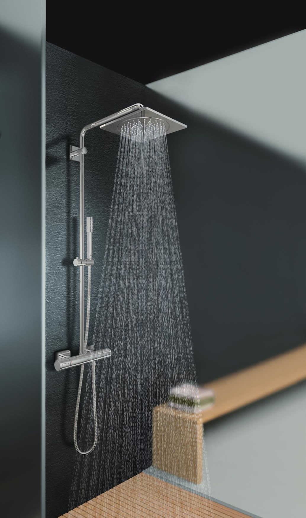Grohe Spa Rainshower F Series Thermostatic Shower System With Kit