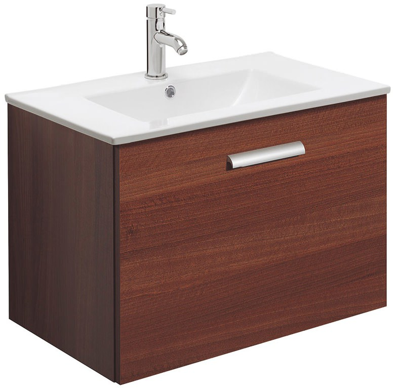 Bauhaus design plus single drawer 700mm wall hung basin for Kitchen cabinets 700mm