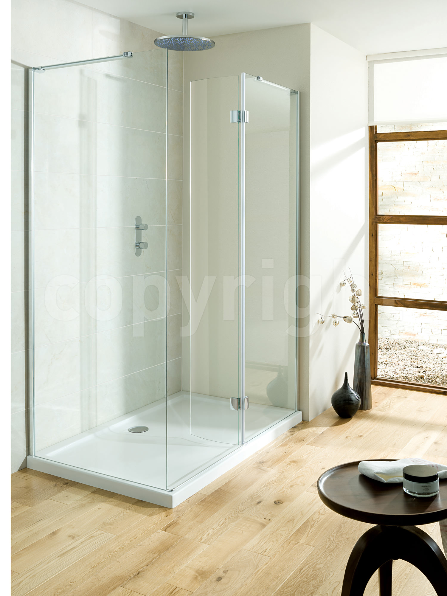 Simpsons Design View 1700mm Walk In Easy Access Shower