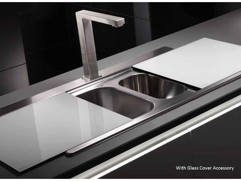 additional image for 35953 abode   aw5035 abode maxim stainless steel kitchen sink 1 5 bowl and rh drainer  rh   aqva co uk