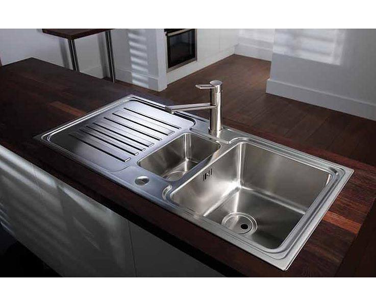 Abode Apex 1.5 Bowl Reversible Stainless Steel Kitchen Sink
