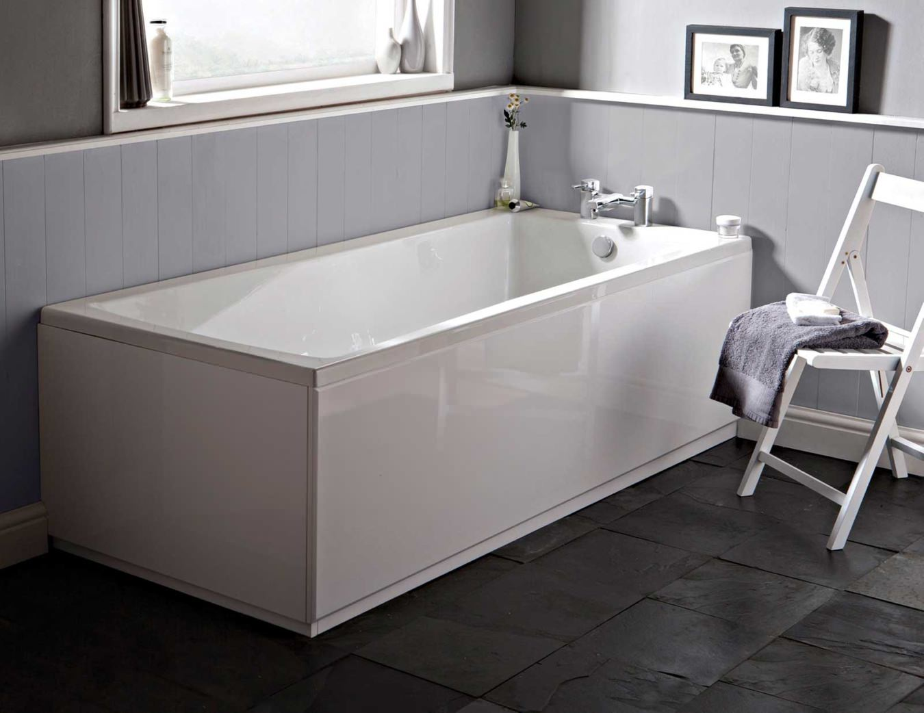 Beo Ice 1800 X 800mm Single Ended Acrylic Bath