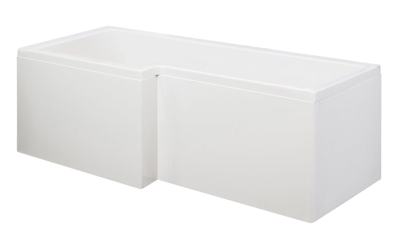 beo square left hand showerbath 1500 x 850mm