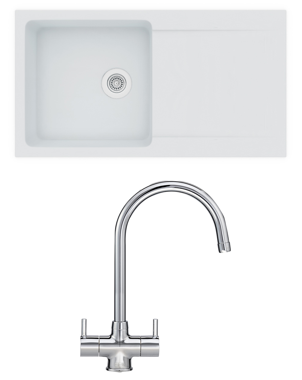 Additional Image Of Franke Orion OID 611 94 Propack   Tectonite Polar White  Sink And