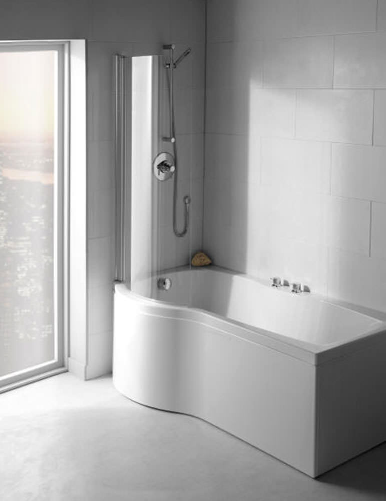 Carron Delta 5mm Acrylic Shower Bath 1700 x 800mm Left Handed